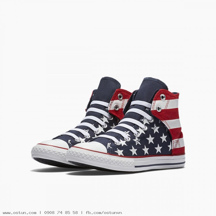 54bfe0234d3c ... Converse Chuck Taylor All Star American Flag High Top - Little Big  Kids  Slip ...