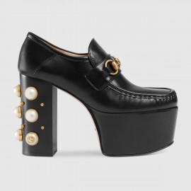 4ccc2dcde29 Giày Studded leather Horsebit loafers