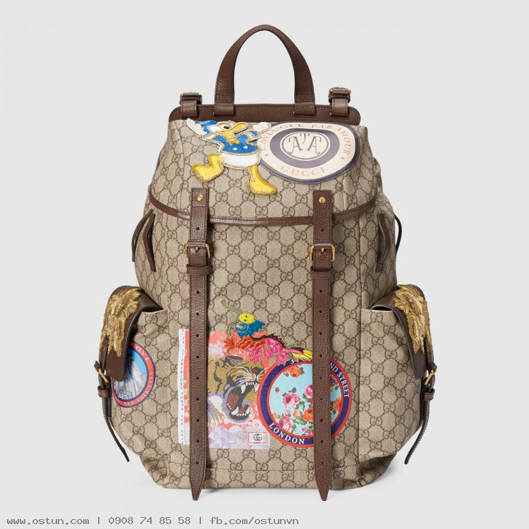 b5a066c0630 Soft GG Supreme backpack with appliqués - Men s Bags