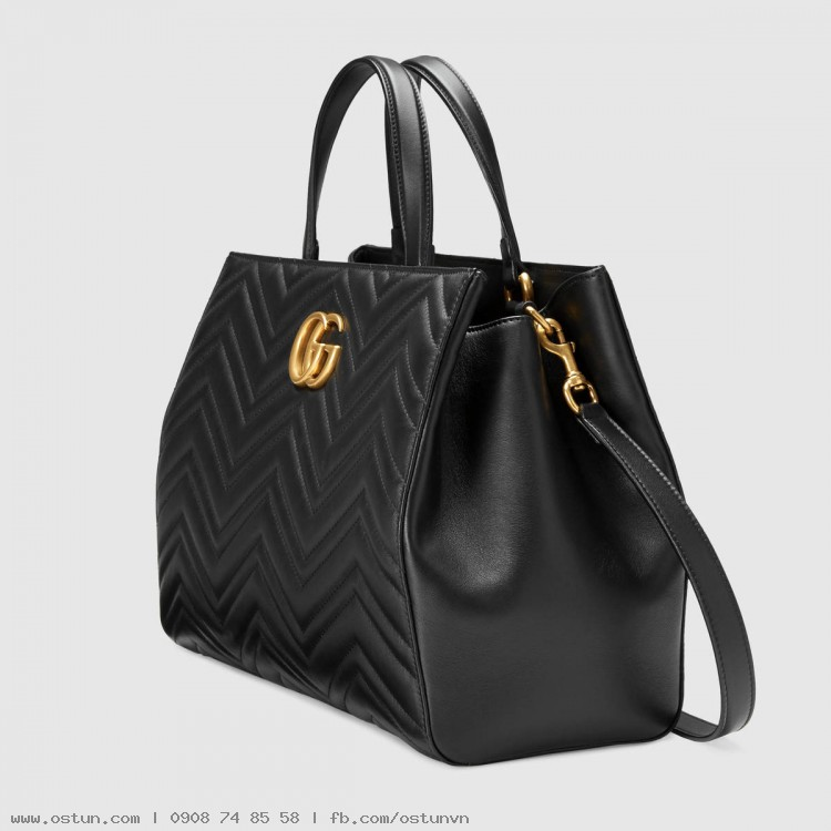 cc204ba90443 ... GG Marmont matelassé top handle bag - Handbags ...
