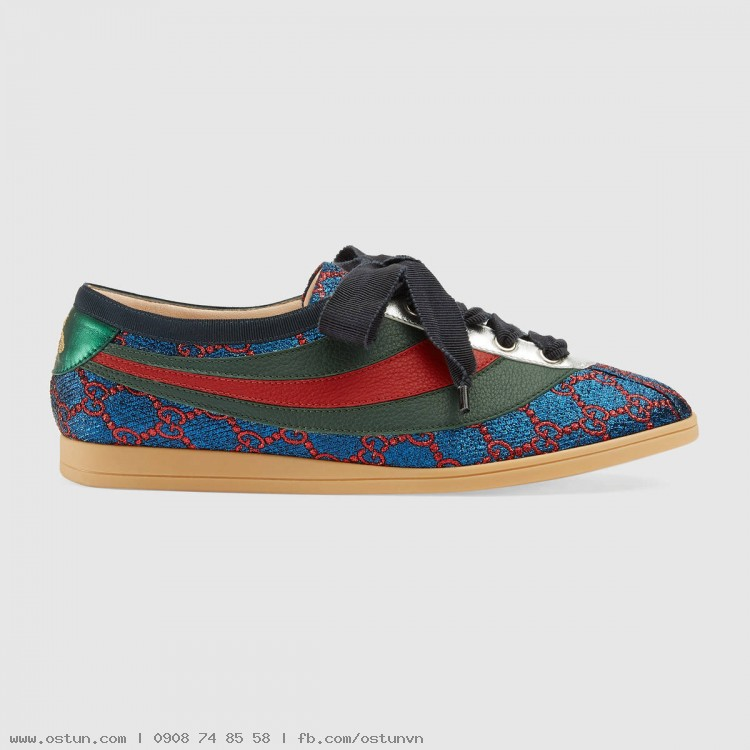 Falacer lurex GG sneaker with Web - Women's Shoes