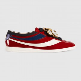 Giày Falacer patent leather sneaker with Web