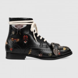 Giày Queercore embroidered brogue boot